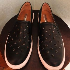Halogen Leather Studded Slip-on Sneakers Tennis